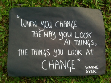 When you change the way you look at things, the things you look at change